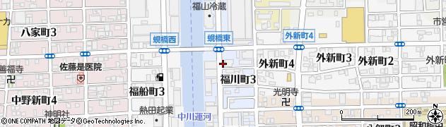 愛知県名古屋市中川区福川町周辺の地図