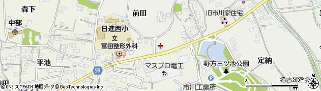 愛知県日進市浅田町(東田面)周辺の地図
