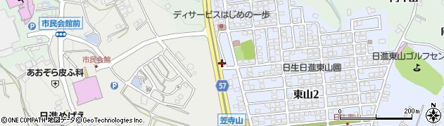 愛知県日進市折戸町(東山)周辺の地図