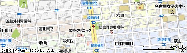 愛知県名古屋市瑞穂区瑞穂通周辺の地図