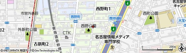 愛知県名古屋市熱田区西野町周辺の地図