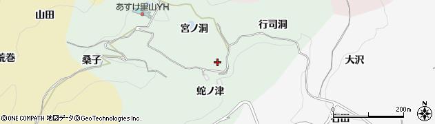 愛知県豊田市椿立町周辺の地図