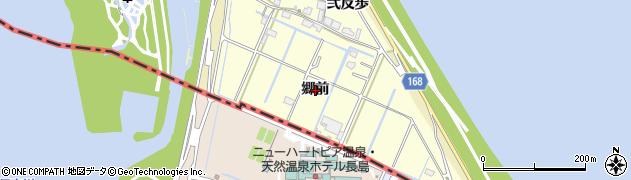 愛知県愛西市福原新田町(郷前)周辺の地図