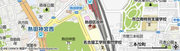 愛知県名古屋市熱田区周辺の地図