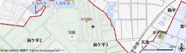 愛知県弥富市前ケ平周辺の地図