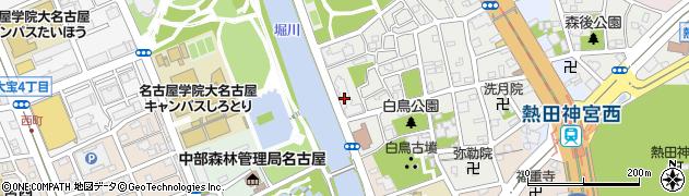 白鳥パークハイツ神宮西周辺の地図