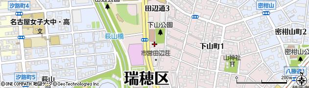愛知県名古屋市瑞穂区田辺通周辺の地図