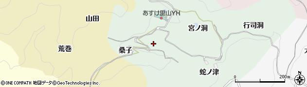 愛知県豊田市椿立町(桑子)周辺の地図