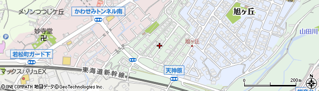 静岡県三島市西旭ケ丘町周辺の地図
