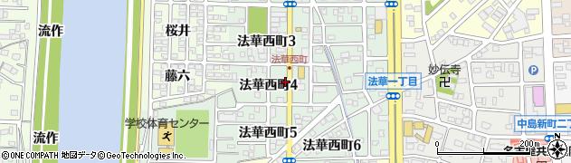 愛知県名古屋市中川区法華町周辺の地図