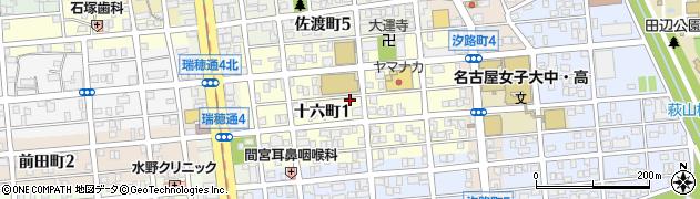 愛知県名古屋市瑞穂区十六町周辺の地図