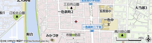 愛知県名古屋市中川区一色新町周辺の地図