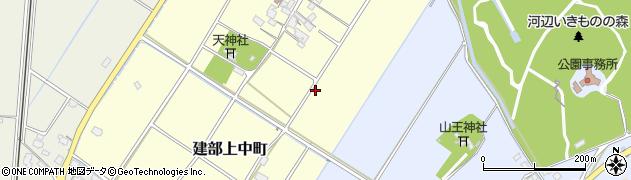 滋賀県東近江市建部上中町周辺の地図
