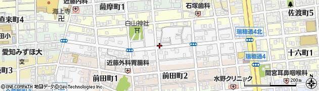 愛知県名古屋市瑞穂区本願寺町周辺の地図