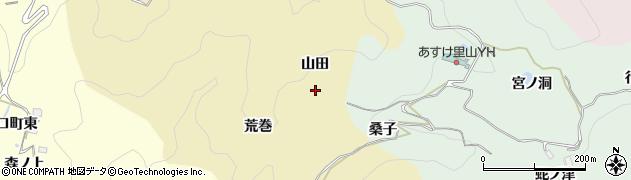 愛知県豊田市漆畑町(山田)周辺の地図