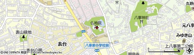 仏地院周辺の地図