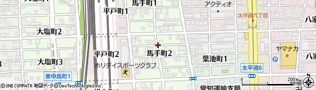 愛知県名古屋市中川区馬手町周辺の地図