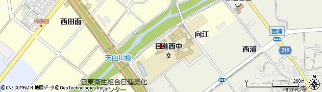 愛知県日進市梅森町(向江)周辺の地図