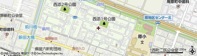 静岡県沼津市西添町周辺の地図