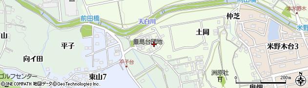 愛知県日進市米野木町(土岡)周辺の地図