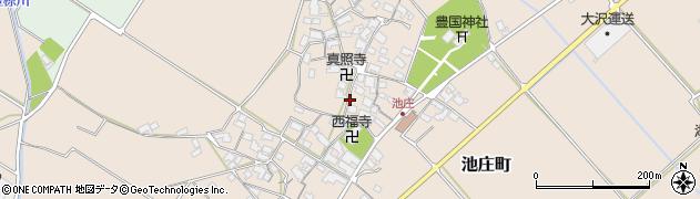 滋賀県東近江市池庄町周辺の地図