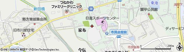 愛知県日進市蟹甲町(家布)周辺の地図