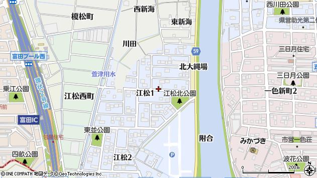 〒454-0954 愛知県名古屋市中川区江松の地図