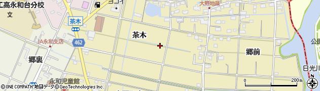 愛知県愛西市大野町周辺の地図