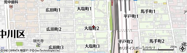 愛知県名古屋市中川区大塩町周辺の地図