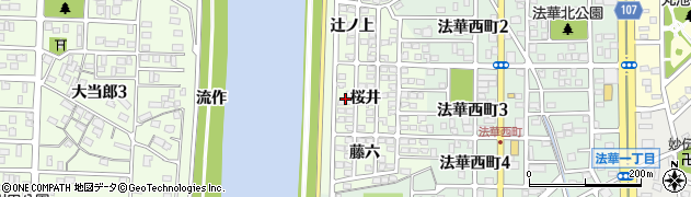愛知県名古屋市中川区中須町(桜井)周辺の地図