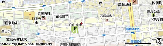 愛知県名古屋市瑞穂区西ノ割町周辺の地図