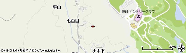 愛知県豊田市千鳥町(七百目)周辺の地図