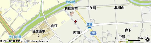 愛知県日進市浅田町(西浦)周辺の地図