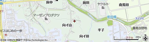 愛知県日進市藤枝町(向イ山)周辺の地図