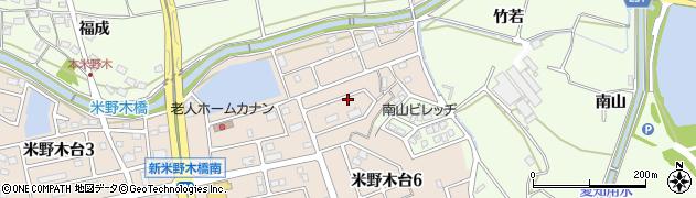 愛知県日進市米野木町(傘松)周辺の地図
