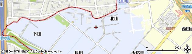 愛知県日進市赤池町(北山)周辺の地図