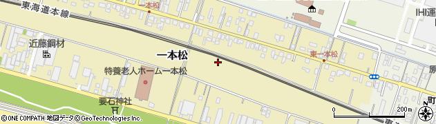 静岡県沼津市一本松周辺の地図