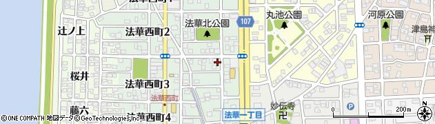 愛知県名古屋市中川区法華西町周辺の地図