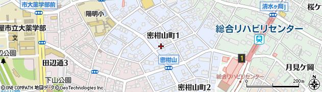 愛知県名古屋市瑞穂区密柑山町周辺の地図