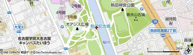 愛知県名古屋市熱田区熱田西町(洲崎)周辺の地図