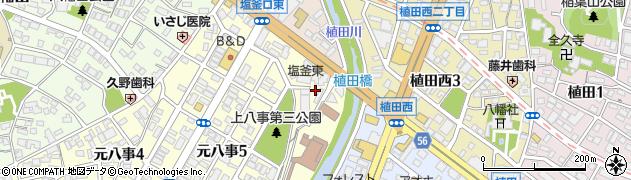 愛知県名古屋市天白区天白町大字植田(西ノ川原)周辺の地図