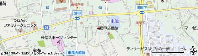 愛知県日進市蟹甲町(中屋敷)周辺の地図