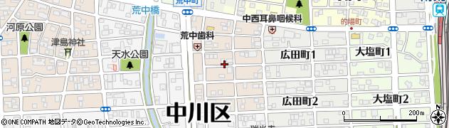 愛知県名古屋市中川区草平町周辺の地図