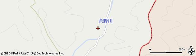 京都府京都市右京区京北細野町(八十尻)周辺の地図