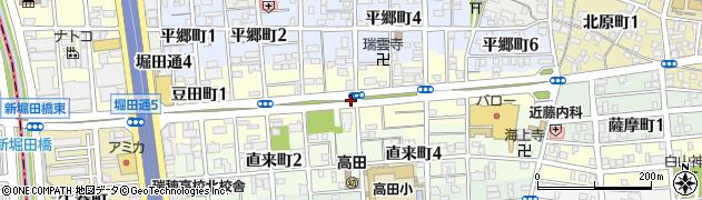 愛知県名古屋市瑞穂区豆田町周辺の地図