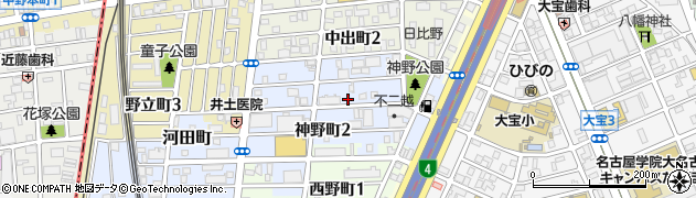 愛知県名古屋市熱田区神野町周辺の地図