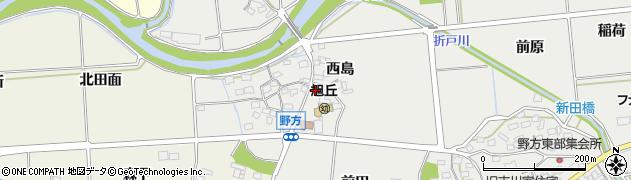 愛知県日進市野方町(西島)周辺の地図