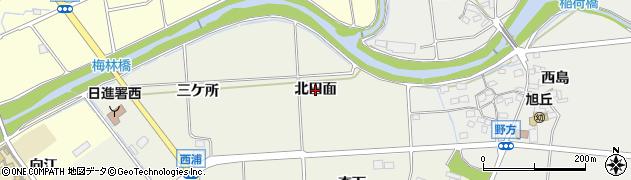 愛知県日進市浅田町(北田面)周辺の地図