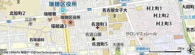 愛知県名古屋市瑞穂区佐渡町周辺の地図
