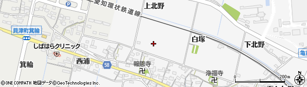 愛知県豊田市伊保町(上北野)周辺の地図